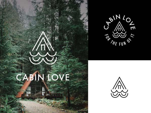 Inspirasi Desain Logo Monoline 2017 - Cabin Love Monoline Logo