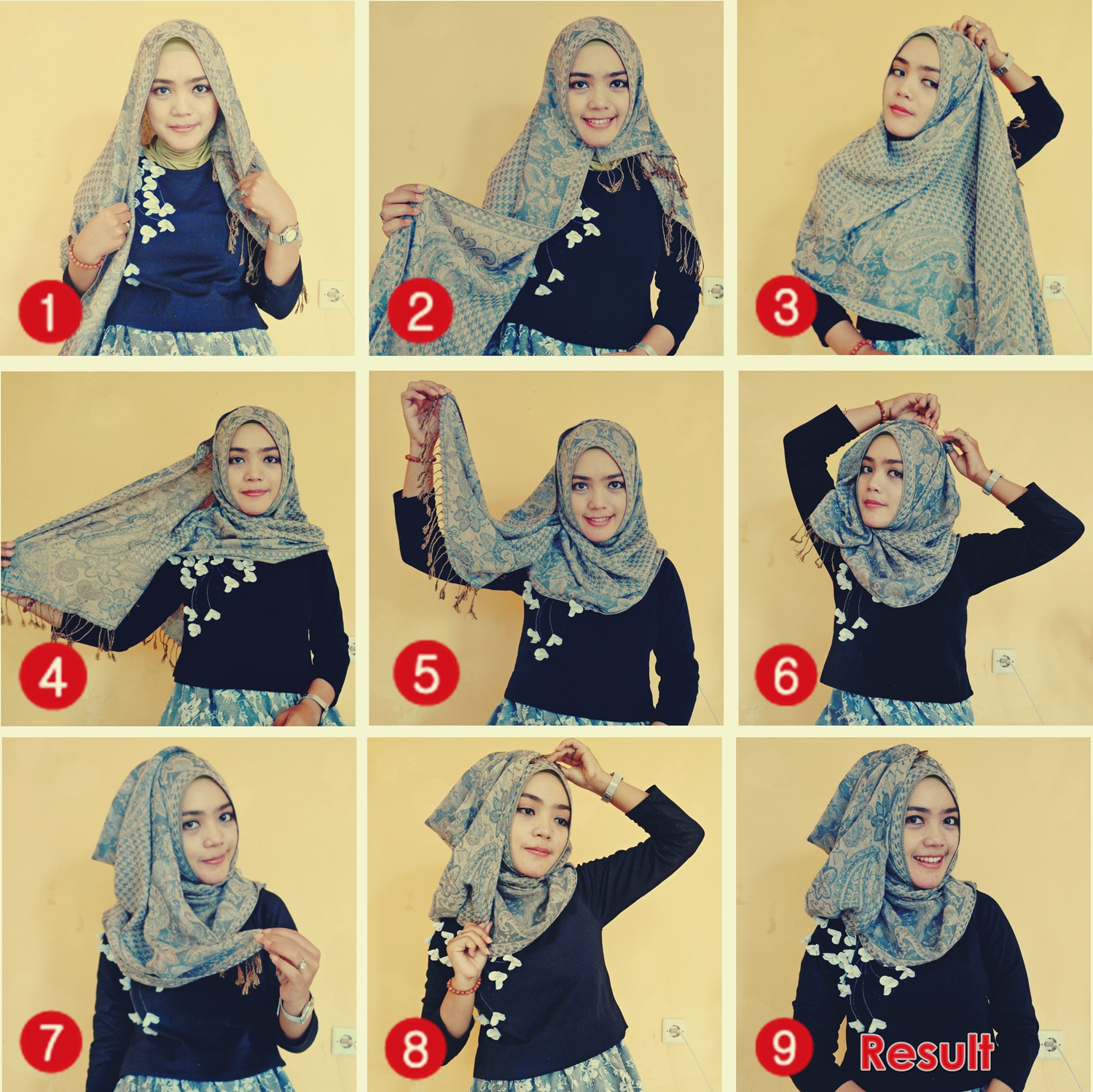 Tutorial Hijab Pashmina Style 1 By Deana Hijab AyuQueen Hijab Style