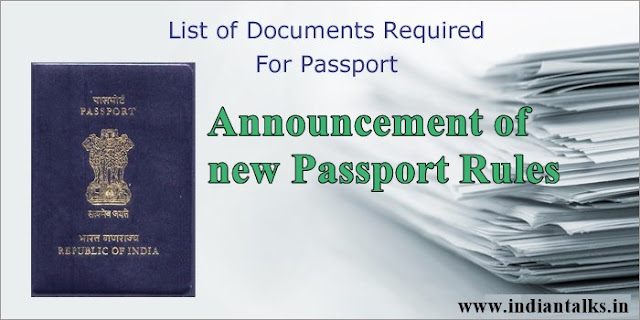 Announcement of new Passport Rules