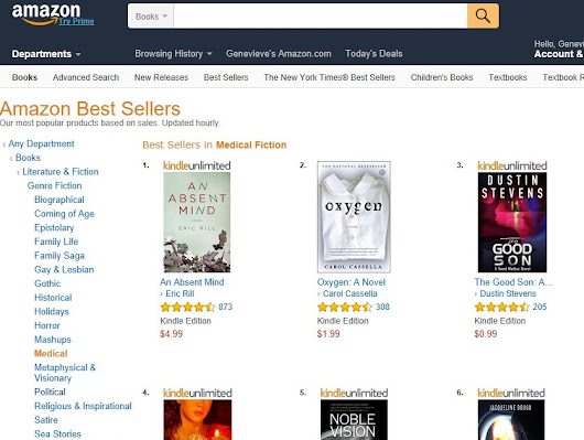 NOBLE VISION is #5 Amazon Best Seller in Medical Fiction