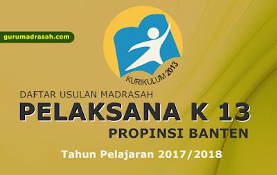 usulan k 13 propinsi banten 2017-2018