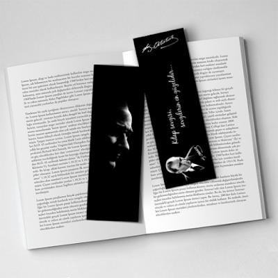 Atatürk temalı kitap ayracı tasarımım