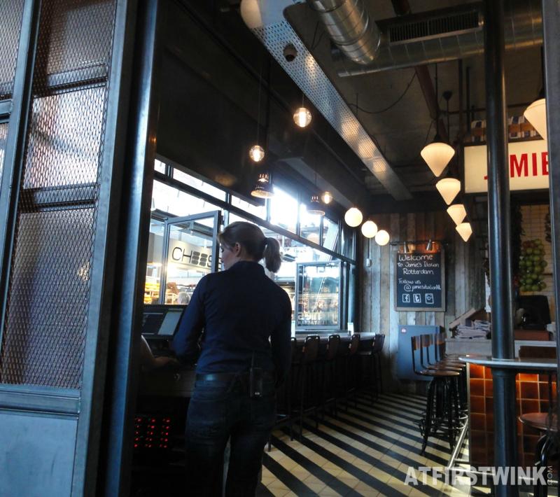 Jamie's Italian Markthal entrance bar stools