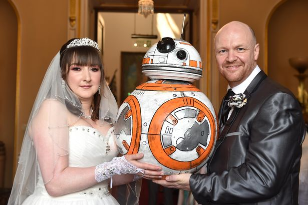 Star Wars mad Kevin Birch and Leanne Fagan even had two Stormtroopers at their wedding
