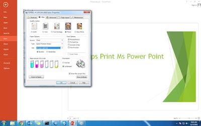Cara Mudah Print di Ms Power Point dan Tipsnya 2