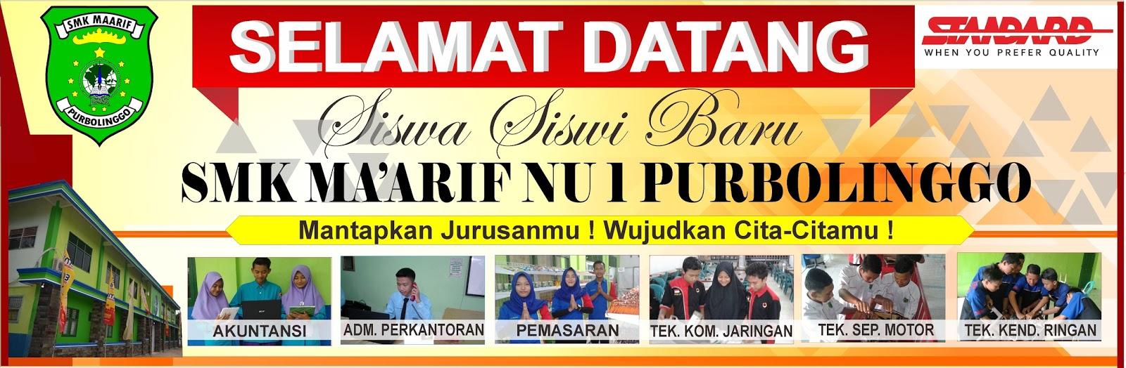 Banner Psb Baliho penerimaan siswa baru cdr