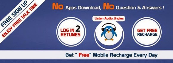 Get free mobile recharges just for listening small audio jingles
