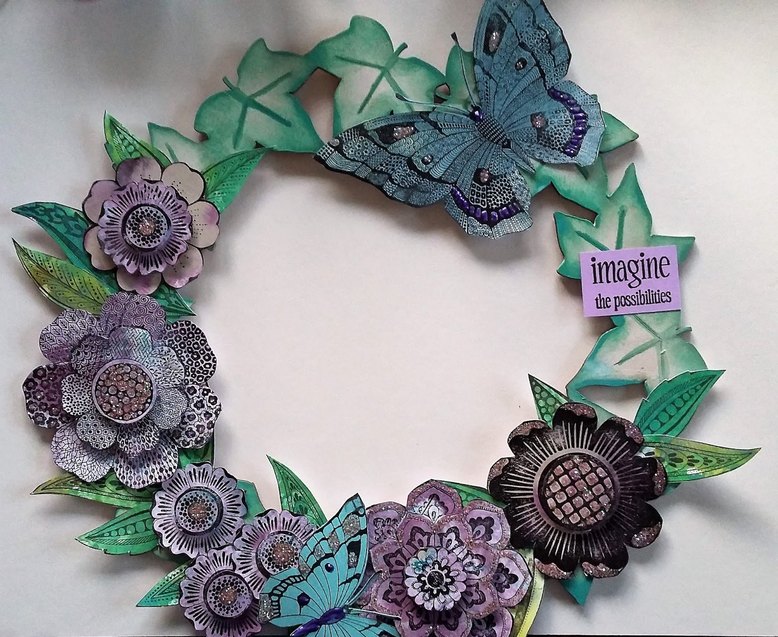 chocolate baroque design team floral wreath by rachel