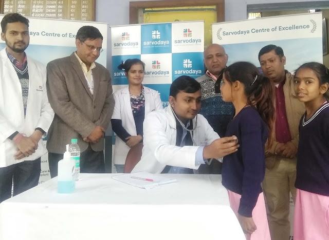Sarvodaya Hospital, Trivandrum Primary School, Health Check-up camp