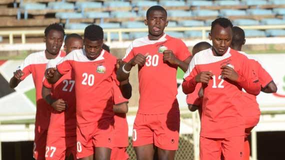 Kikosi cha Harambee Stars chini ya miaka 21 kikiwa mazoezini uwanjani kasarani. Picha/Kwa hisani