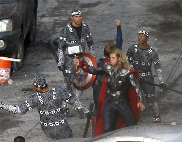 Rodaje de Los Vengadores