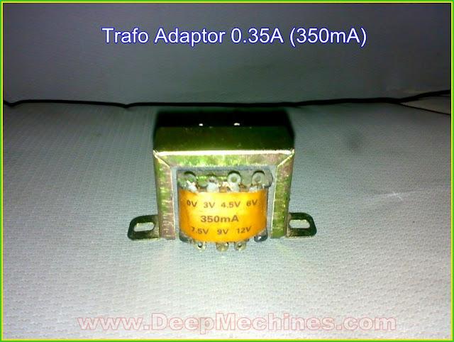 Belajar Merakit Adaptor Sederhana menggunakan Trafo 350mA