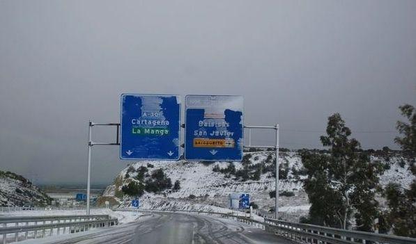 E nevou em Cartagena