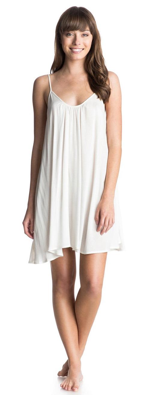 Robe courte débardeur blanche Roxy