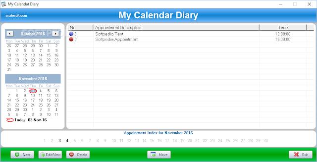 تحميل برنامج ادارة المواعيد للكمبيوتر My Calendar Diary