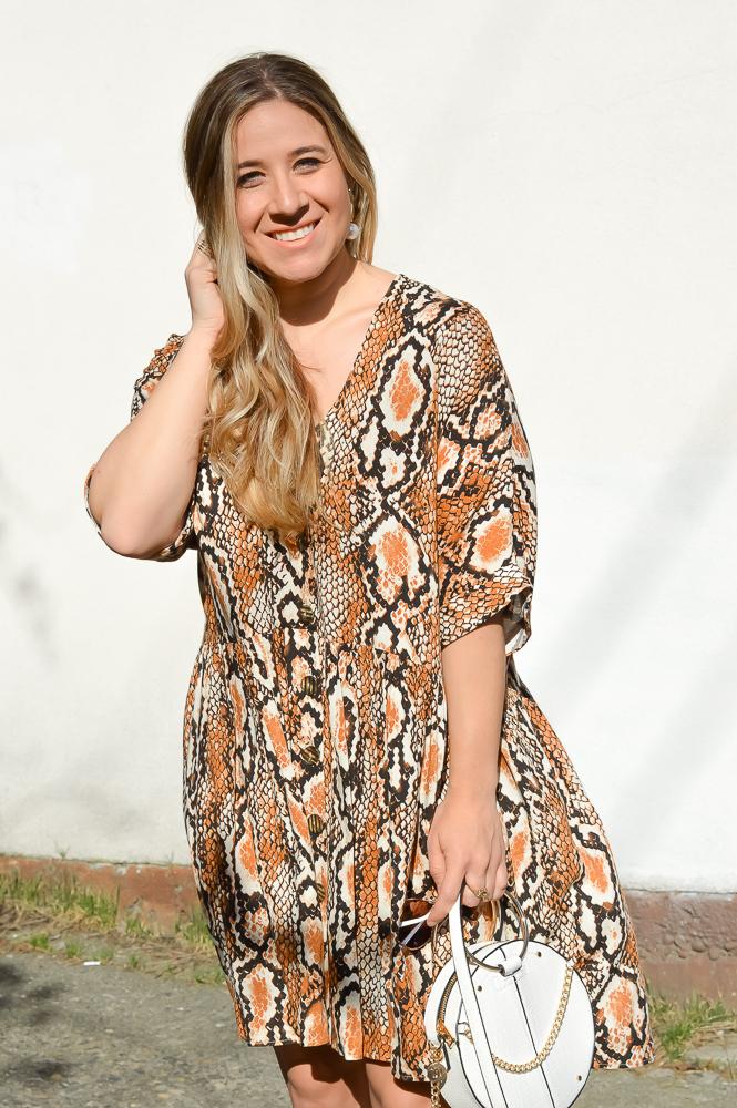 River Island Snake Print Dress