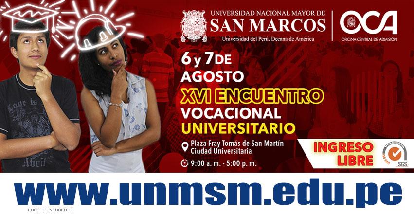 UNMSM: Universidad San Marcos inaugura mañana feria vocacional gratuita - www.unmsm.edu.pe