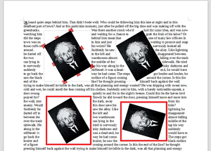 Example of rotated Images in Writer