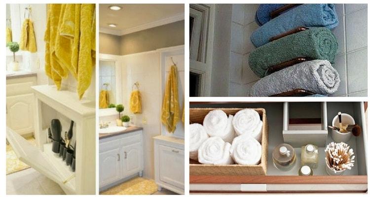 organização de toalhas banheiro