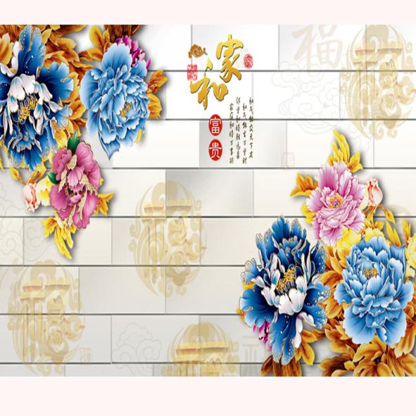 Tranh hoa dán tường