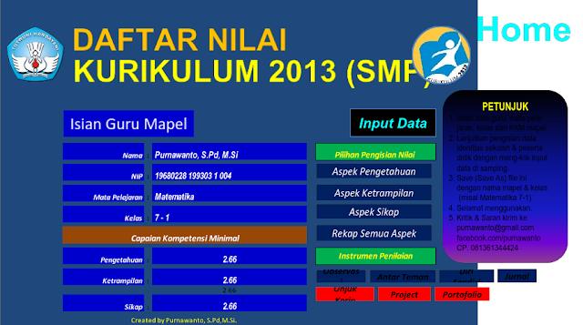 Aplikasi Rapor SD SMP SMA