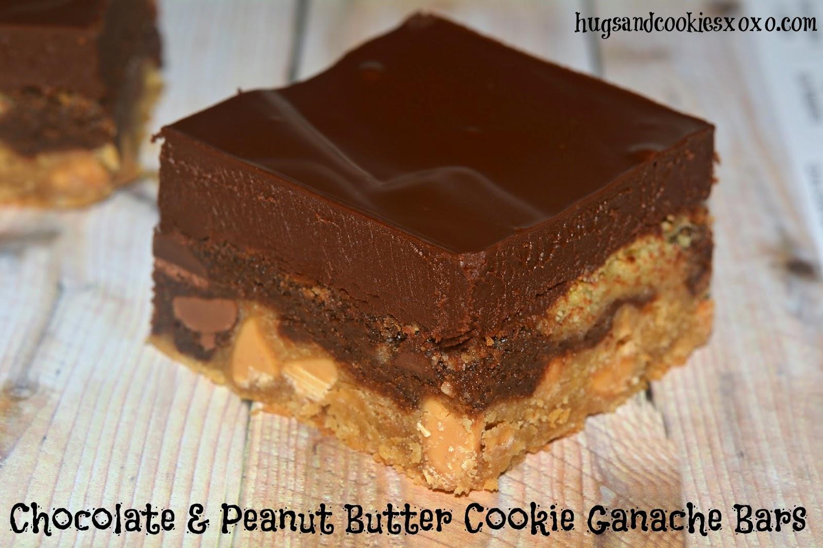 chocolate & peanut butter ganache cookies bars