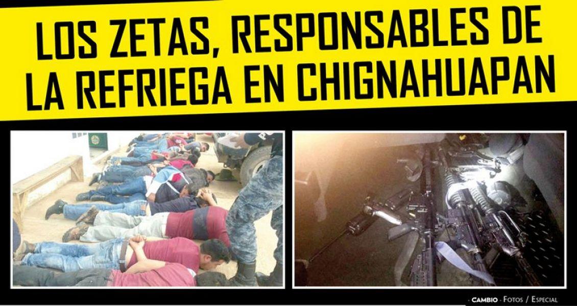 Los Zetas, responsables de la refriega en Chignahuapan, Puebla