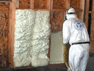 Spray Foam Insulation Install