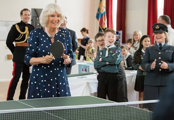 The Duchess visited RAF Halton in Aylesbury and whilst there, officially opened the new youth activities centre