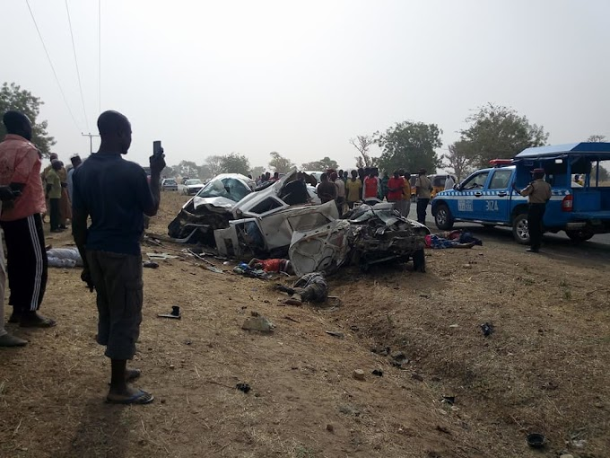 Graphic:Accident In Adamawa Kills Hilux Passengers Instantly
