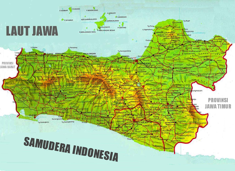 Gambar Peta Jalan Jawa Tengah Lengkap