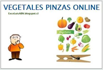 Vegetales pinzas online.