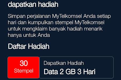 Gratis Kuota Cuma Modal Checkin Dari Telkomsel Sebesar 2GB Terbaru