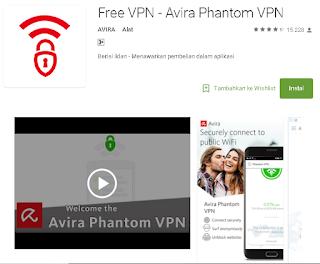 Avira Phantom VPN untuk android