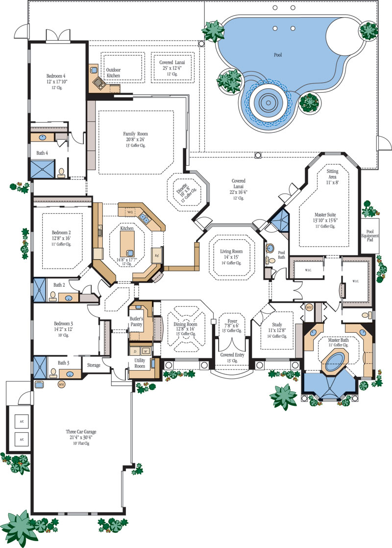 Luxury Home Floor Plans | House Plans Designs