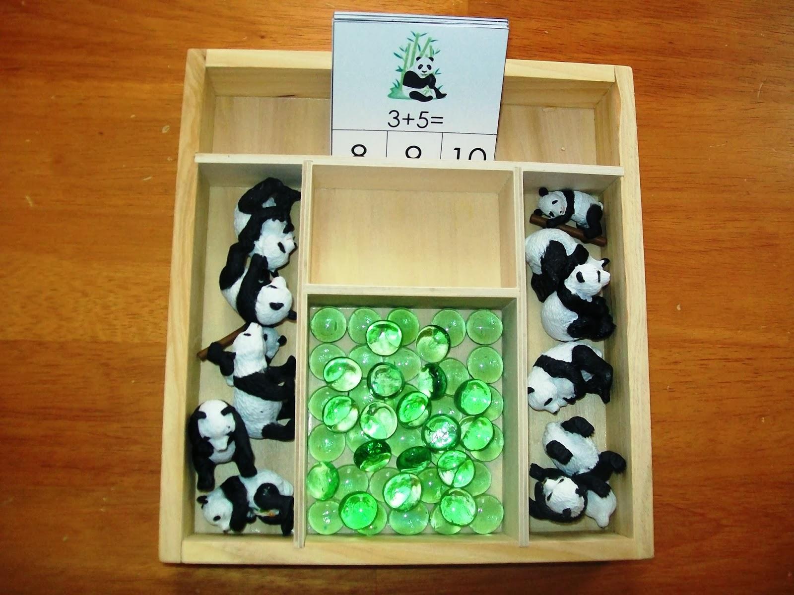 Panda Addition Clip Cards