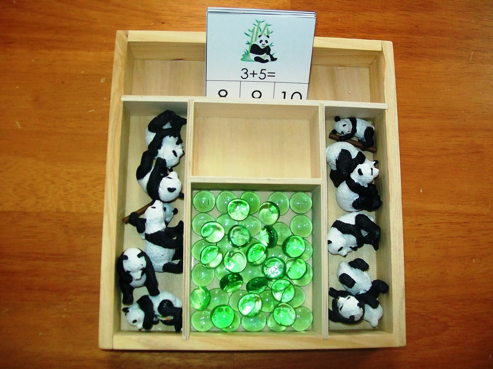 Panda Addition Clip Cards
