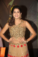 Jenny in brown transparent sleeveless anarkali dress at Shamanthakamani pre release function ~  Exclusive 013.JPG