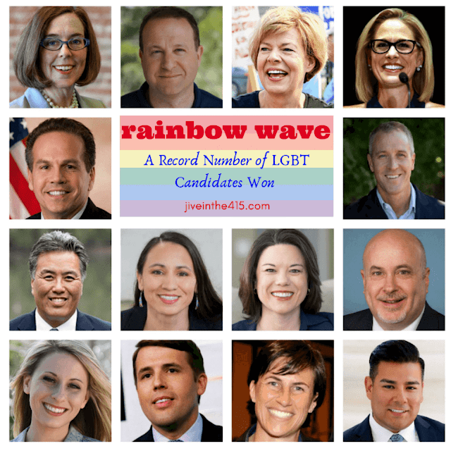 Rainbow Wave lesbian gay bisexual transgender high profile midterm election winners