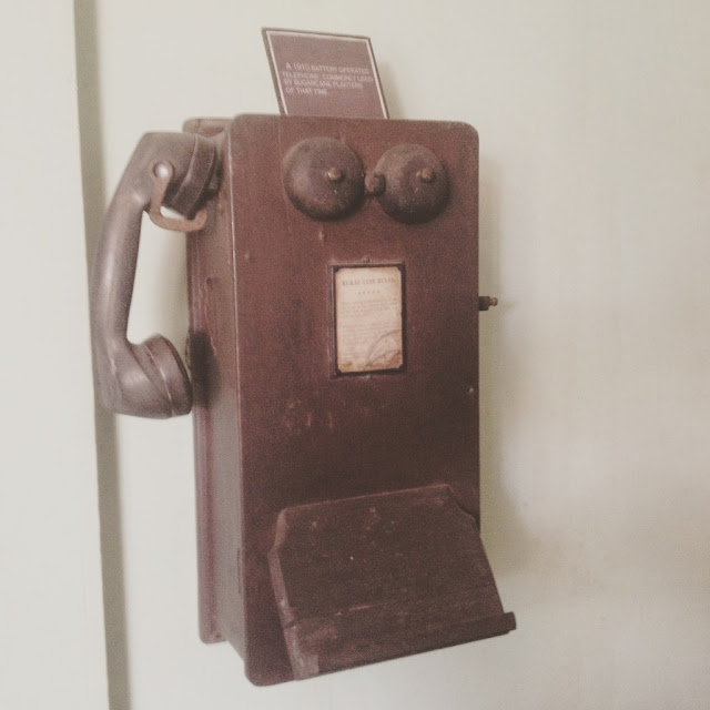 Old switch telephone at the Don Bernardino Jalandoni Ancestral House and Museum