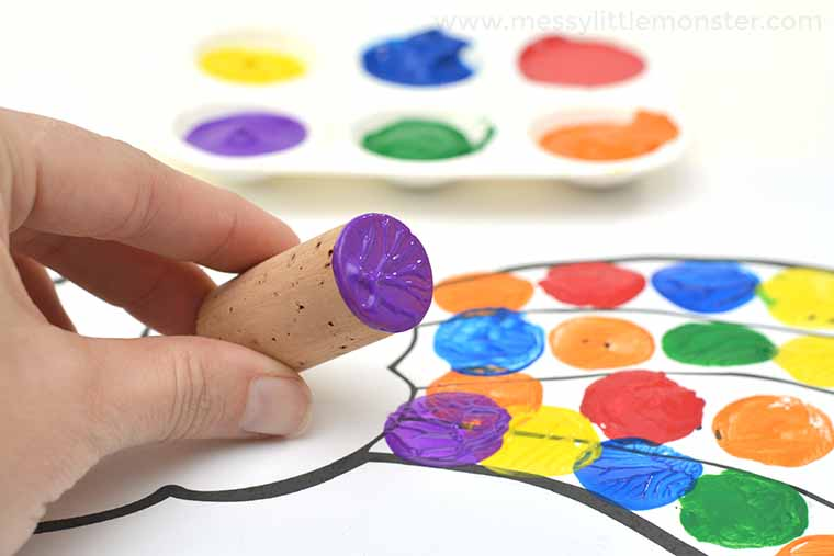 easy rainbow craft for preschoolers