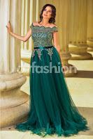 Rochie Catia Verde Smarald din Tull