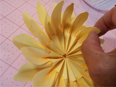 big 3D sunflower rosette svg cutting file