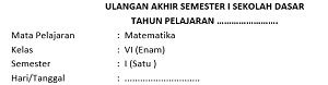 45 Soal UAS Semester 1 Matematika Kelas 6 Dan Kunci Jawaban