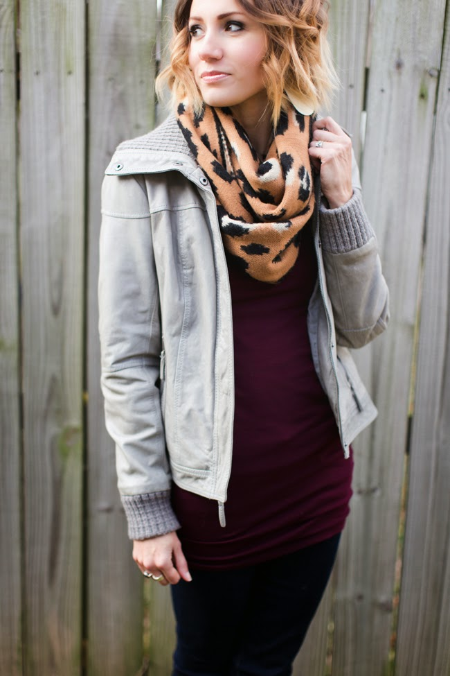 Leopard scarf from Nickel & Suede