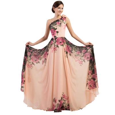 modelos de Vestidos Floreados