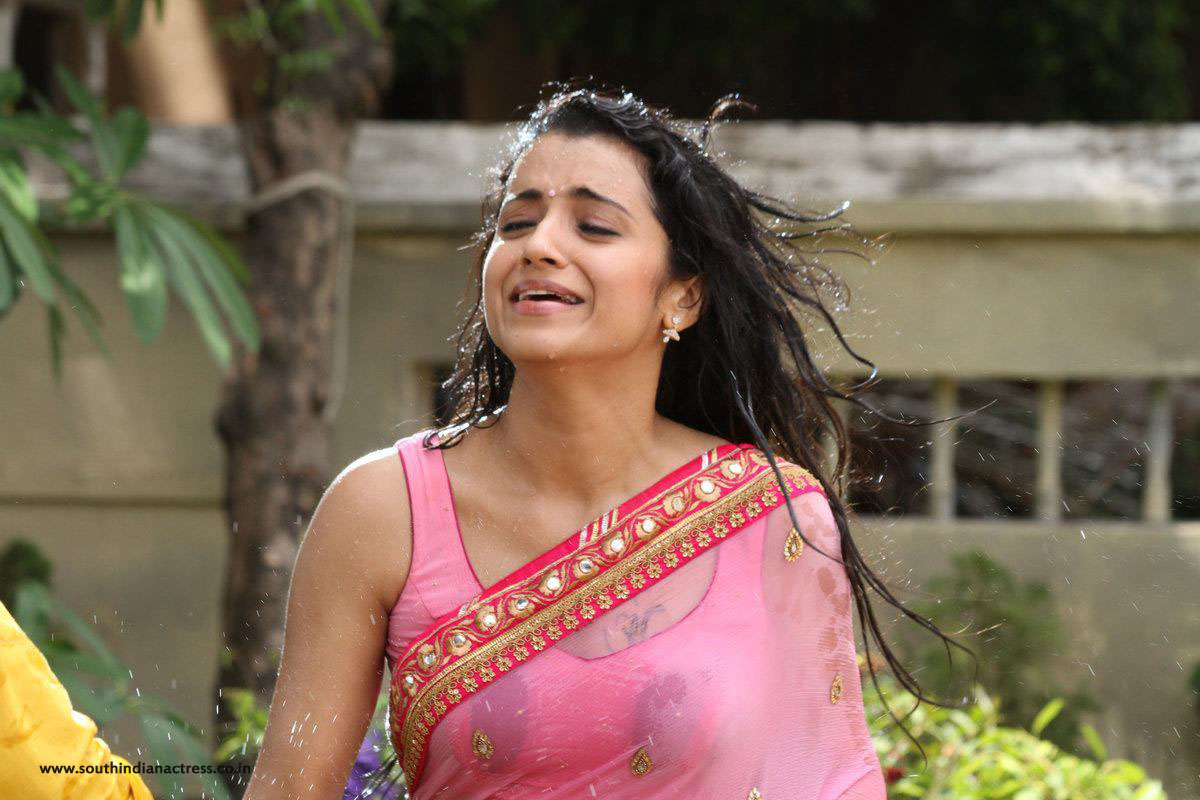 Trisha Krishnan Wet Hot Hd Photos In Kalavathi Movie -8344
