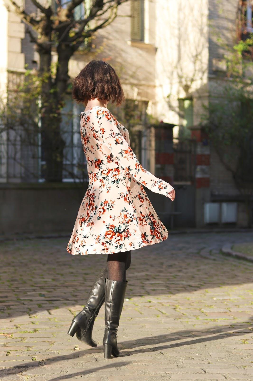 les gommettes de melo look tenu ovs robe velours grosses fleurs velours idee comment porter