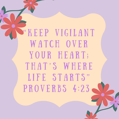 Guard Your Heart, Bible Verse