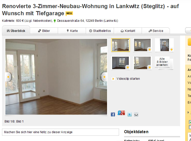 Wohnung Lankwitz